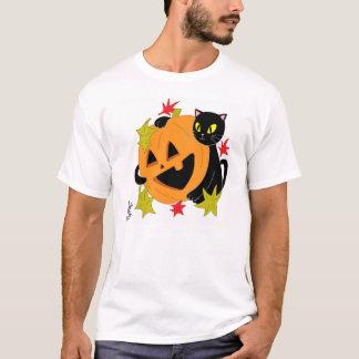 Abóbora e gato camisa de 1 T