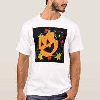 Abóbora e gato camisa de 2 T