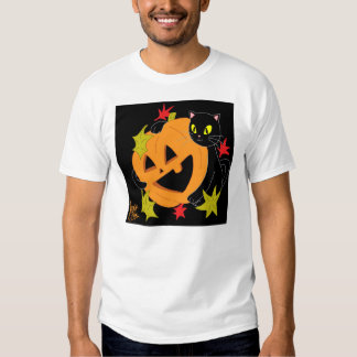 Abóbora e gato camisa de 2 T Tshirts