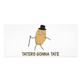 Aborrecedores que vão diar e Taters que vai a Tate 10.16 X 22.86cm Panfleto