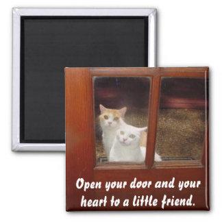 Abra seu coração ímã quadrado