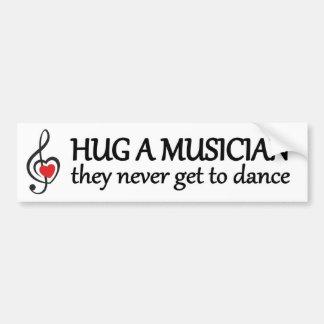 abrace um músico que nunca conseguem dançar a adesivo para carro