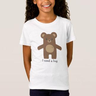 Abraço de urso bonito de Brown T-shirt