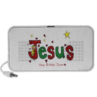 Abraço do aniversário de Jesus (Natal) Caixinhas De Som Para Viagem