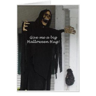 Abraço do Dia das Bruxas Cartão Comemorativo