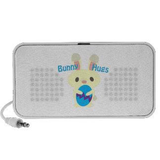 Abraços de coelho caixinhas de som para notebook