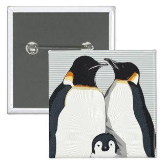 Abraços do pinguim bóton quadrado 5.08cm