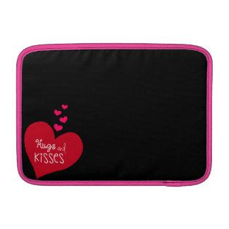 Abraços e capas dos beijos bolsas para MacBook air