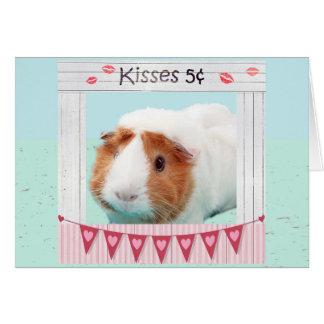 Abraços leitães e beijos cartão