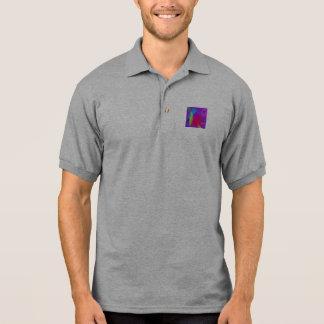 Abrandamento abstrato da cor camiseta polo