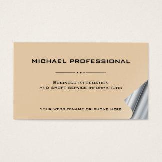 Abricó profissional moderno da luz do cartão de cartão de visita