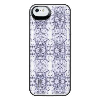 Abstracção floral capa carregador para iPhone SE/5/5s