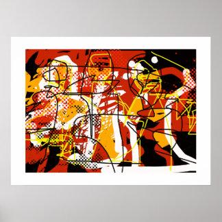 abstracção para paredes, impressões da arte