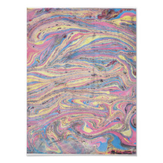 Abstract Paper Marbling Pôsteres