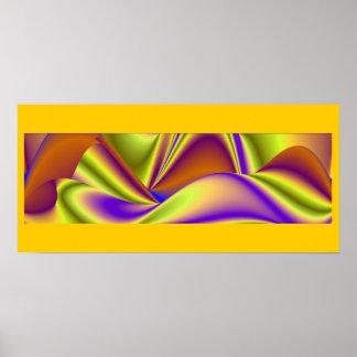 abstract rainbow pôster