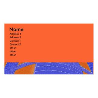 abstrato azul da laranja cartão de visita