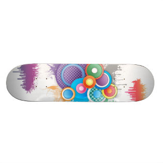 Abstrato bonito shape de skate 21,6cm
