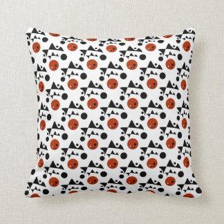 Abstrato branco preto do vermelho travesseiros de decoração
