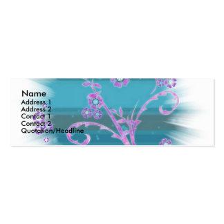 abstrato cartão de visita skinny