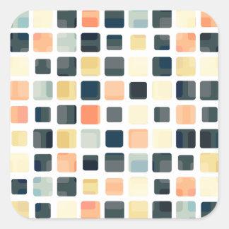 Abstrato colorido do azulejo adesivo quadrado