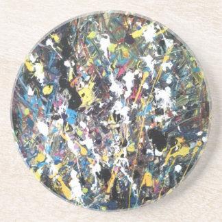 abstrato da arte porta copos de arenito