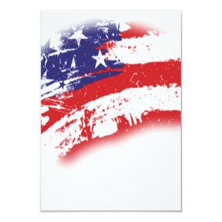 Abstrato da bandeira americana afligido convite 8.89 x 12.7cm