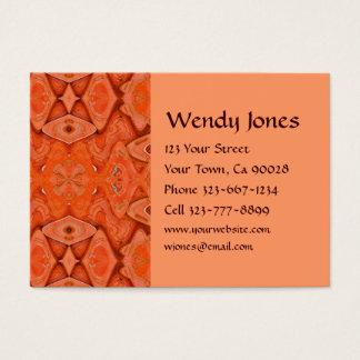 abstrato da laranja cartão de visitas