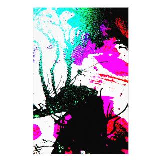 Abstrato de néon do partido do delírio papelaria