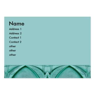 abstrato de turquesa cartão de visita grande