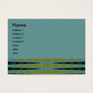 abstrato de turquesa cartão de visitas