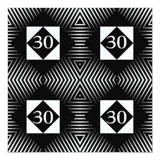 Abstrato do aniversário do convite preto e branco