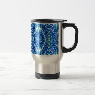 Abstrato do azul caneca térmica