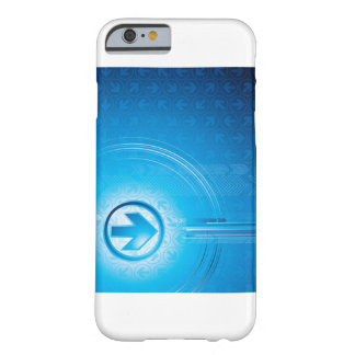 Abstrato do azul capa barely there para iPhone 6