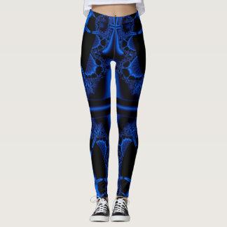 Abstrato do azul legging