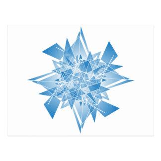abstrato do floco de neve cartão postal