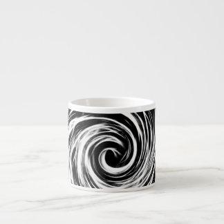 Abstrato do futuro - preto e branco - caneca do