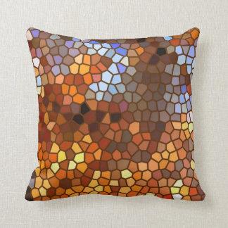 Abstrato do mosaico do outono almofada