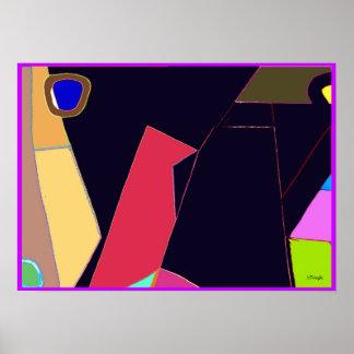 Abstrato do pássaro seis poster