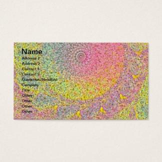 Abstrato do Pastel Cartão De Visitas