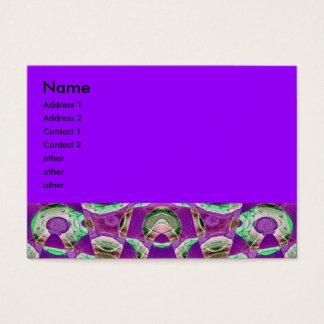 abstrato do roxo cartão de visitas
