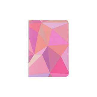 Abstrato do triângulo capa para passaporte