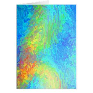 Abstrato do verde azul cartão