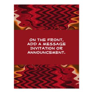 abstrato do vermelho modelos de panfleto
