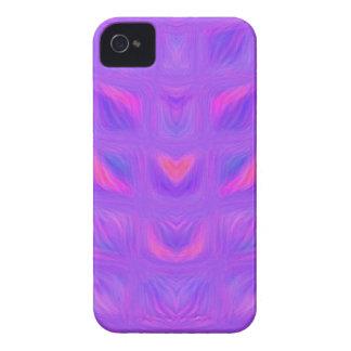 Abstrato feminino cor-de-rosa e do roxo capas para iPhone 4 Case-Mate