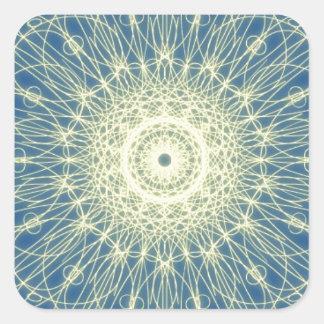Abstrato floral abstrato floral adesivos quadrados