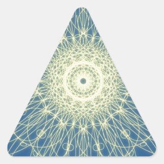 Abstrato floral abstrato floral adesivo triângulo