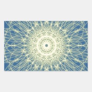 Abstrato floral abstrato floral adesivos em forma retangular