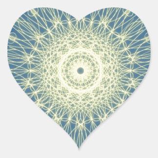 Abstrato floral abstrato floral adesivo de coração