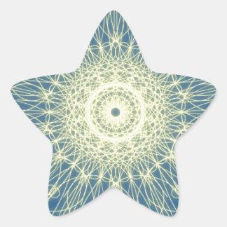 Abstrato floral abstrato floral adesivo estrela