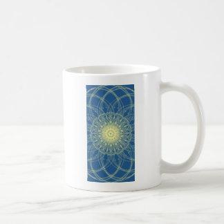 Abstrato floral abstrato floral caneca de café